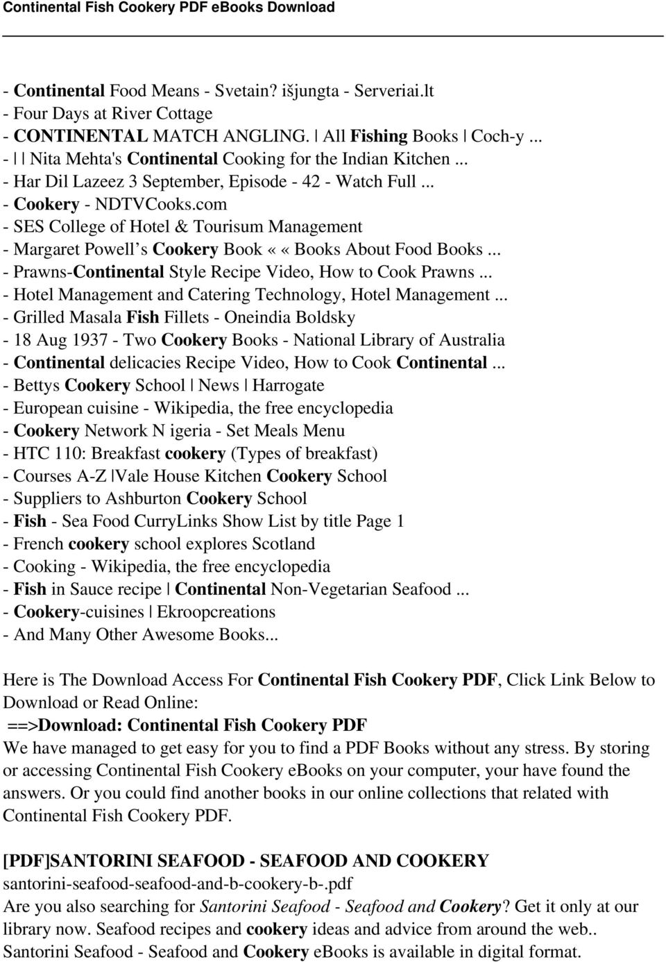 Continental fish cookery pdf pdf com ses college of hotel tourisum management margaret powell s cookery book fandeluxe Gallery