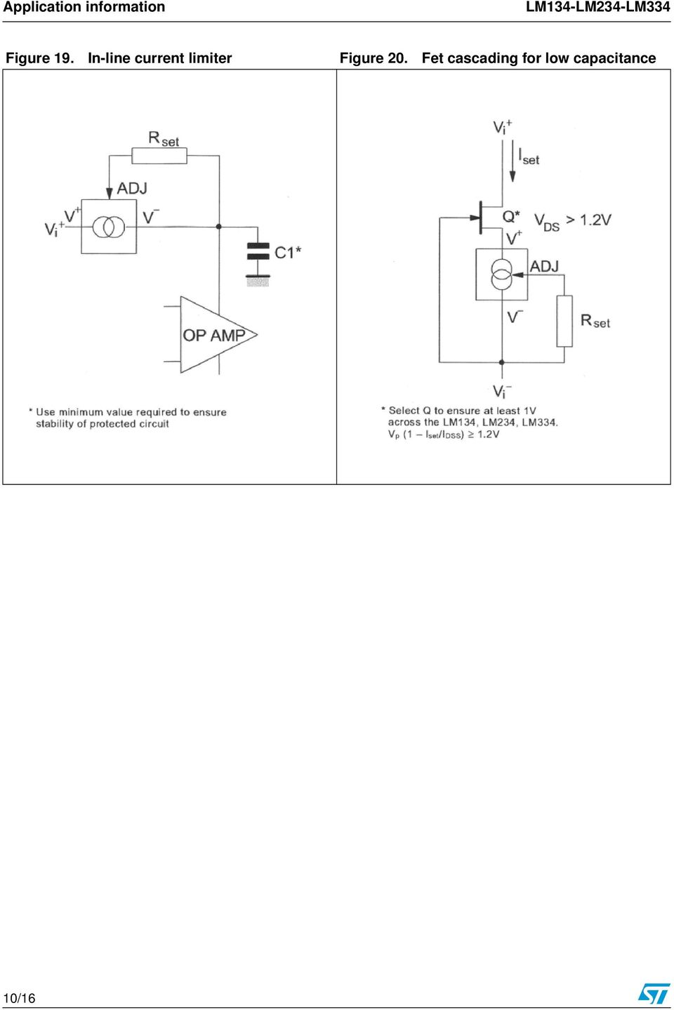 Lm134 Lm234 Lm334 Three Terminal Adjustable Current Sources Bta41 600b Datasheet Application Note Electronic Circuit Projects In Line Limiter Figure