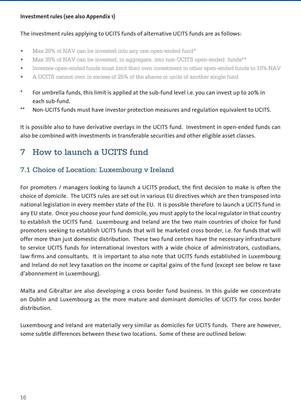 ucits iii investment guidelines