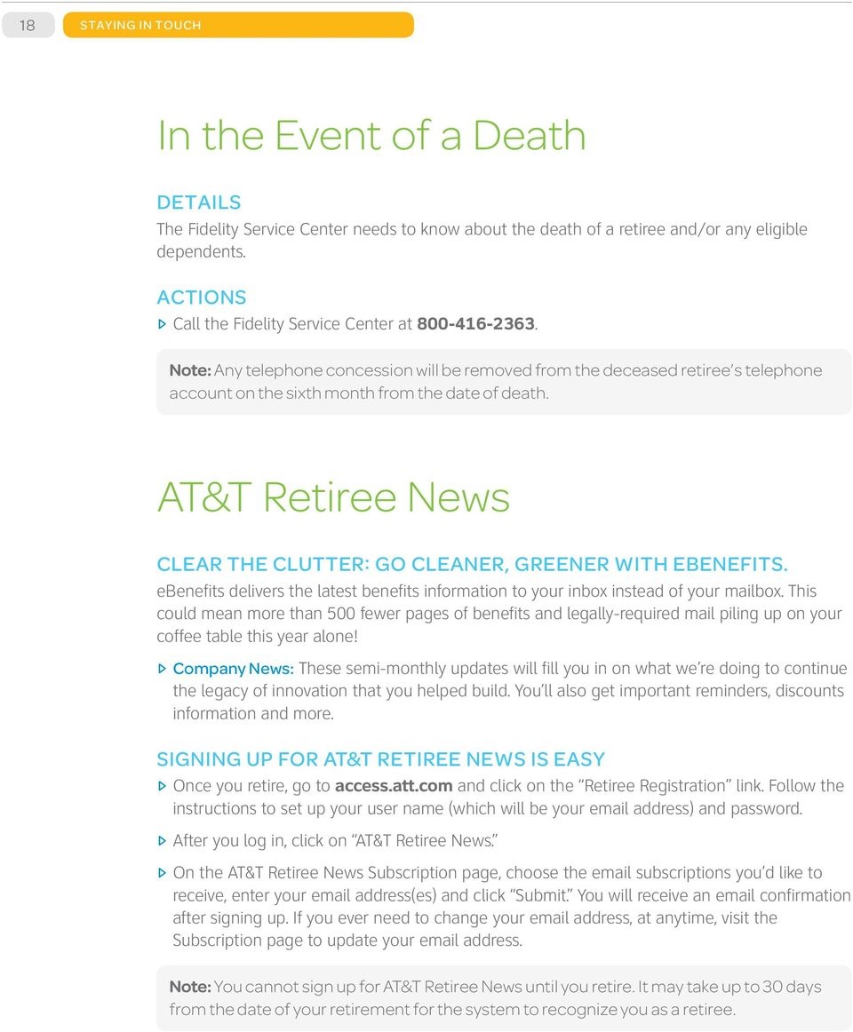 AT&T Retirement Guide - PDF