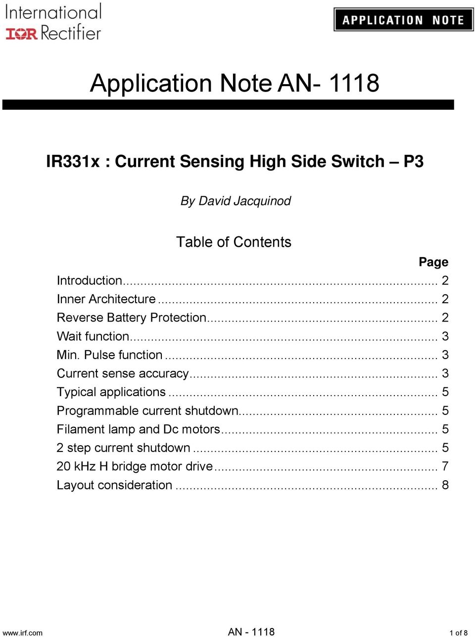 Application Note An Pdf Synchronous Rectifier For Reverse Battery Protection Schematic Transcription