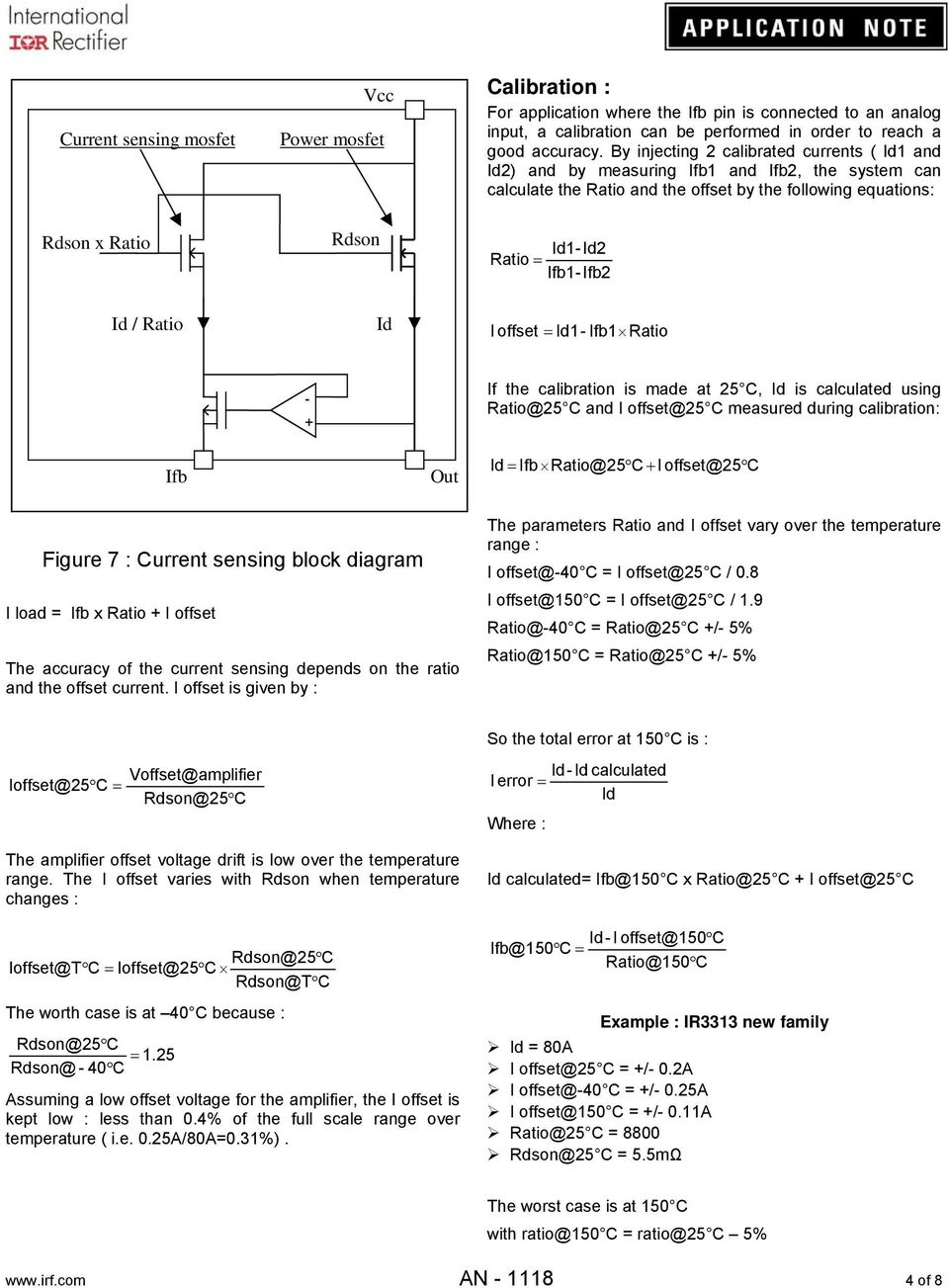 Application Note An Pdf Lm386 As Btl Amplifier Circuit Diagram Amplifiercircuit Ratio Id I Offset Id1 1 If The Calibration Is Made