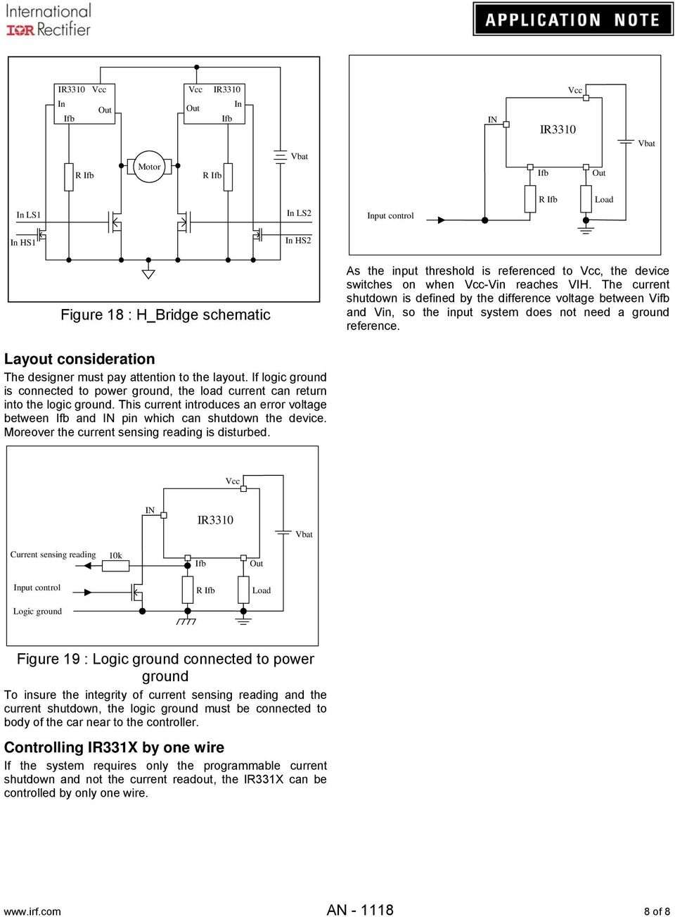 Application Note An Pdf Voltage Regulator With Shutdown Digital Circuit Diagram If Logic Ground Is Connected To Power The Load Current Can Return Into