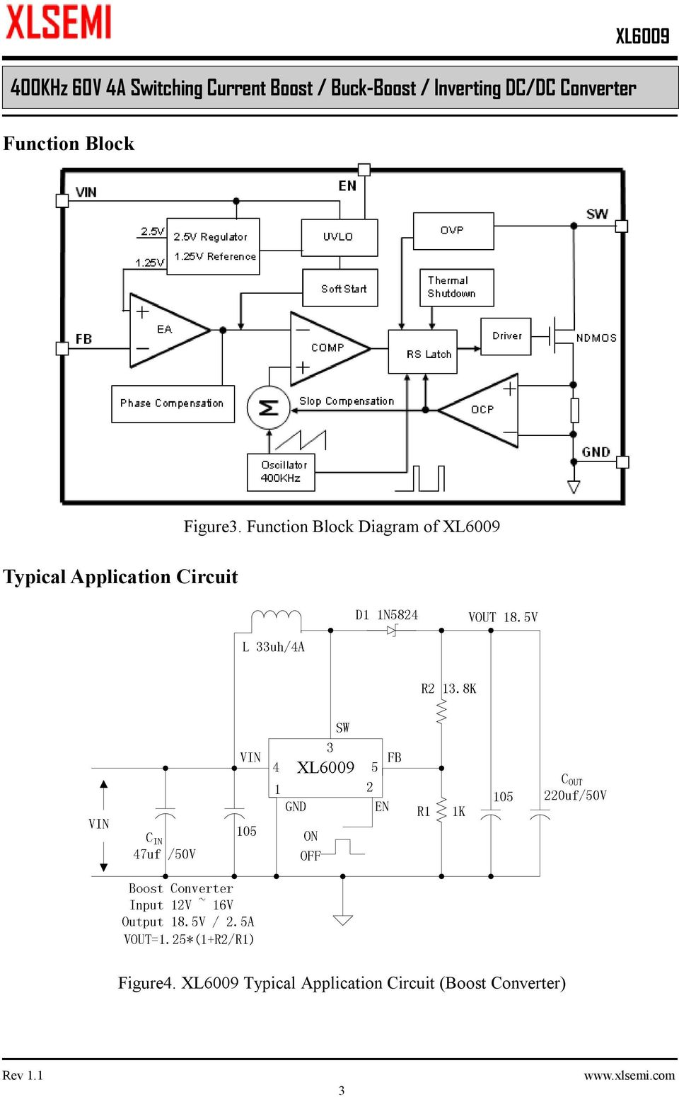 400khz 60v 4a Switching Current Boost Buck Inverting Dc To Converter Circuit Also Design Typical Application 3 Function Block Diagram Of Figure4
