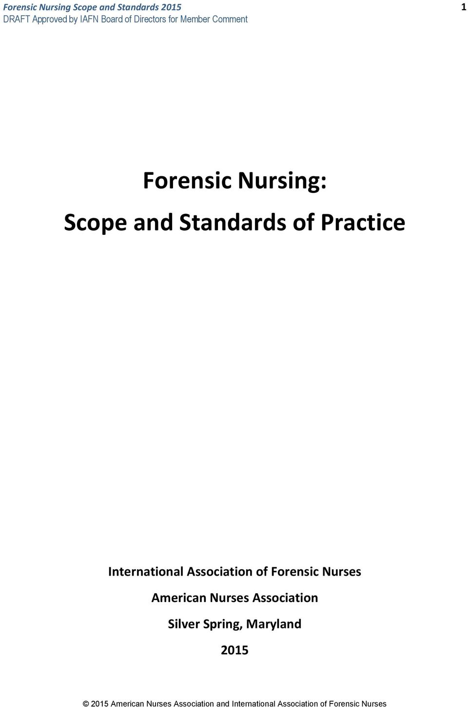 Forensic Nursing Scope And Standards Of Practice Pdf Free Download