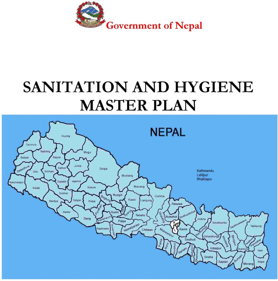 government of nepal sanitation and hygiene master plan - pdf