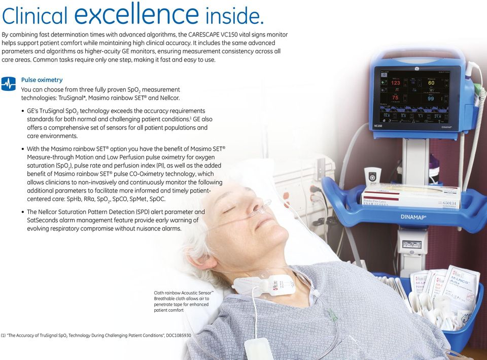 CARESCAPE VC150 Vital Signs Monitor  Connecting intelligence