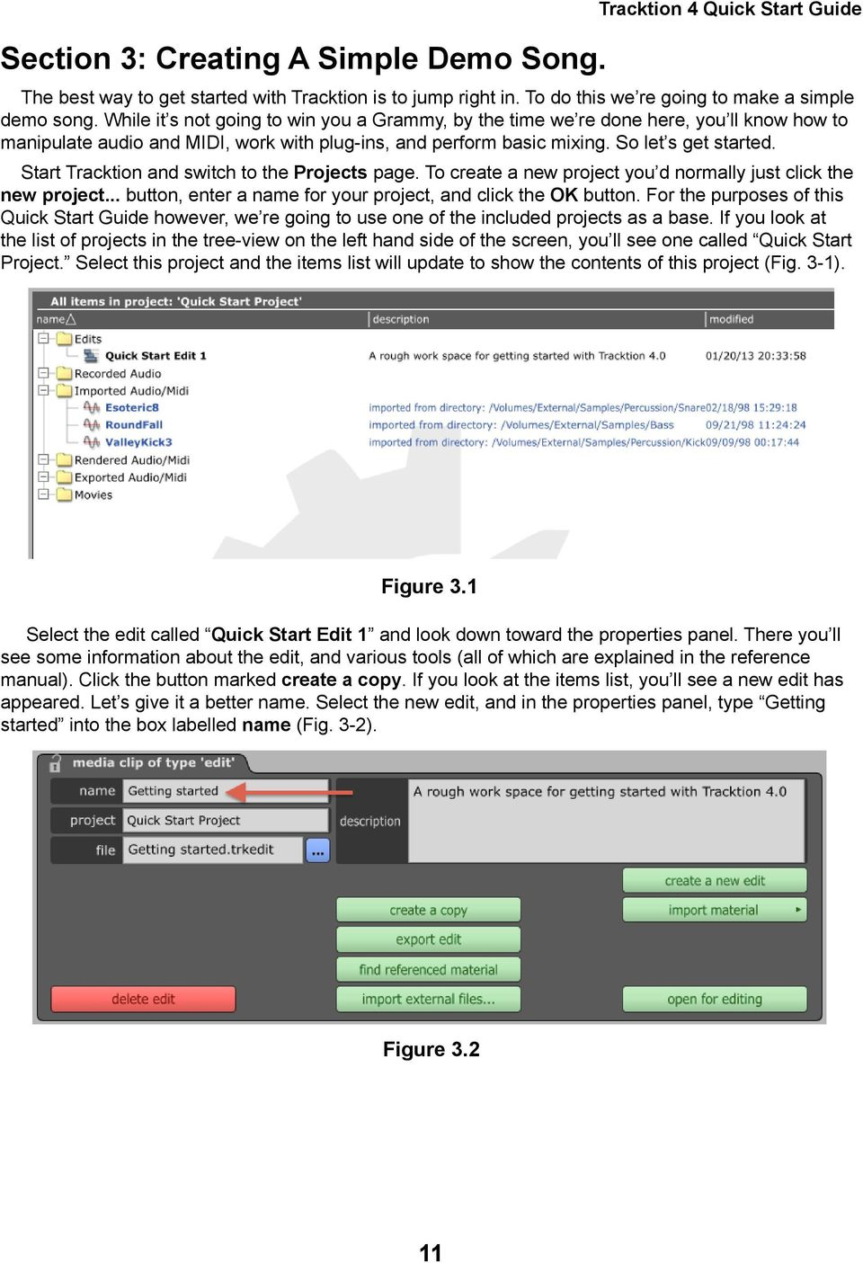 Tracktion 4 Quick Start Guide - PDF