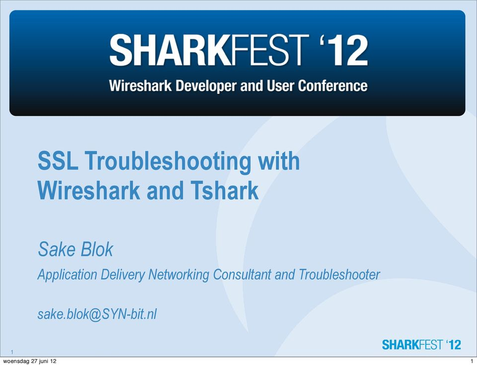 SSL Troubleshooting with Wireshark and Tshark - PDF