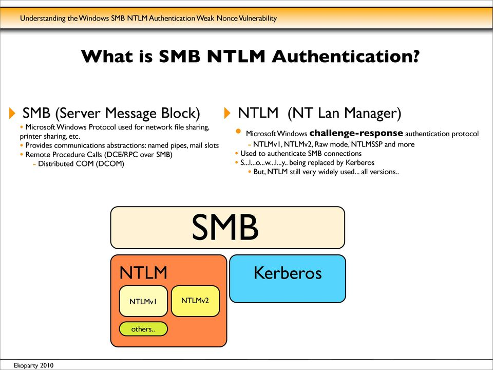 Samba Kerberos Method