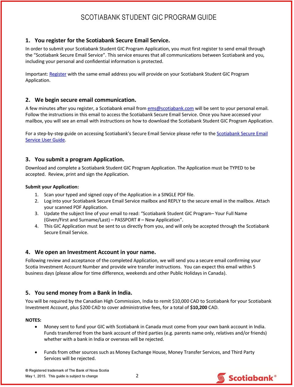 scotiabank student gic program guide i applying for the scotiabank rh docplayer net