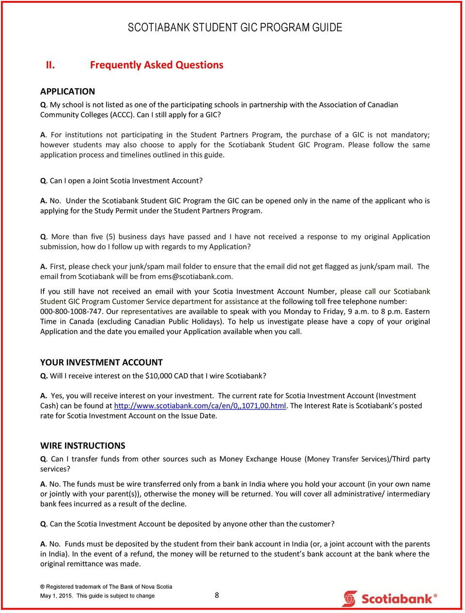 Scotiabank Student Gic Program Guide I Applying For The Wiring Money To India Institutions Not Participating In Partners Purchase Of A Is