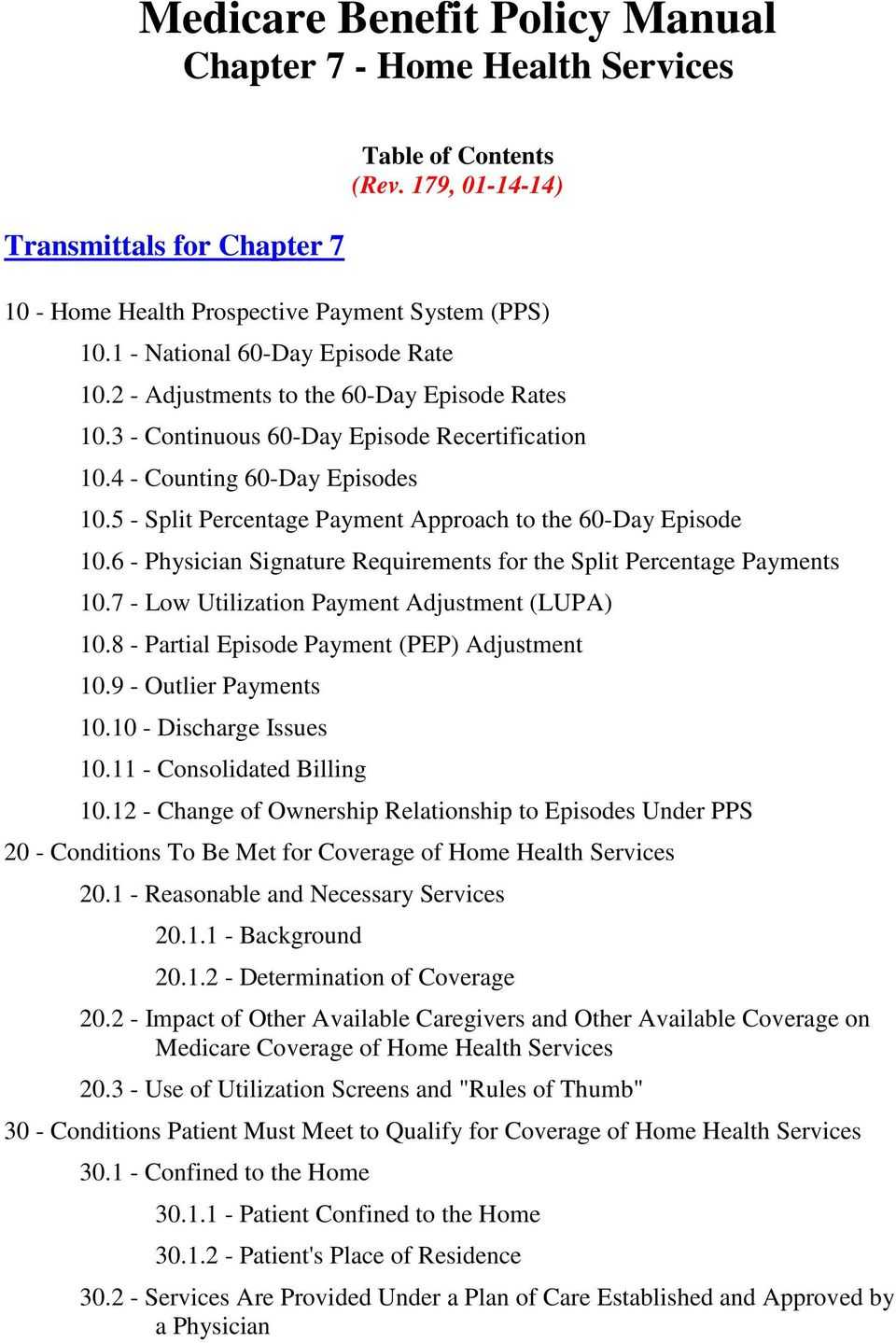 5 - Split Percentage Payment Approach to the 60-Day Episode 10.6 -  Physician Signature