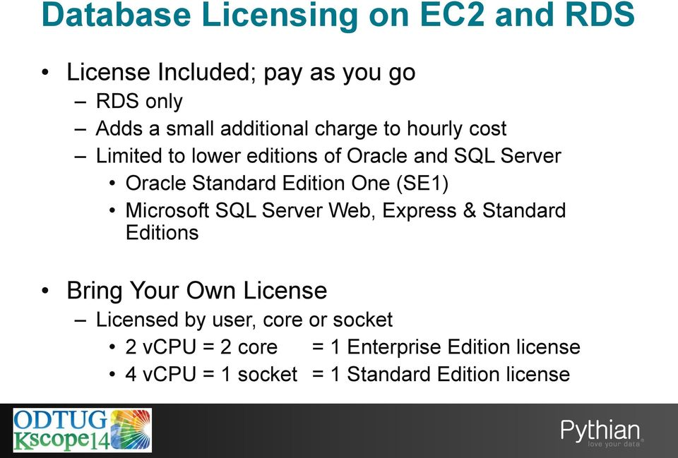 (SE1) Microsoft SQL Server Web, Express & Standard Editions Bring Your Own License Licensed by user,