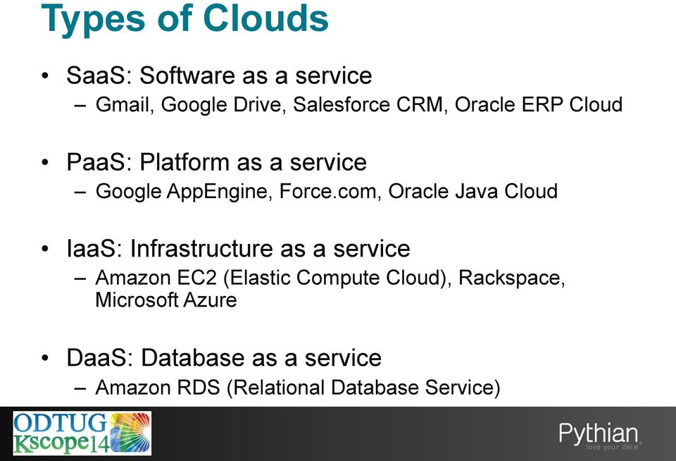 com, Oracle Java Cloud IaaS: Infrastructure as a service Amazon EC2 (Elastic Compute