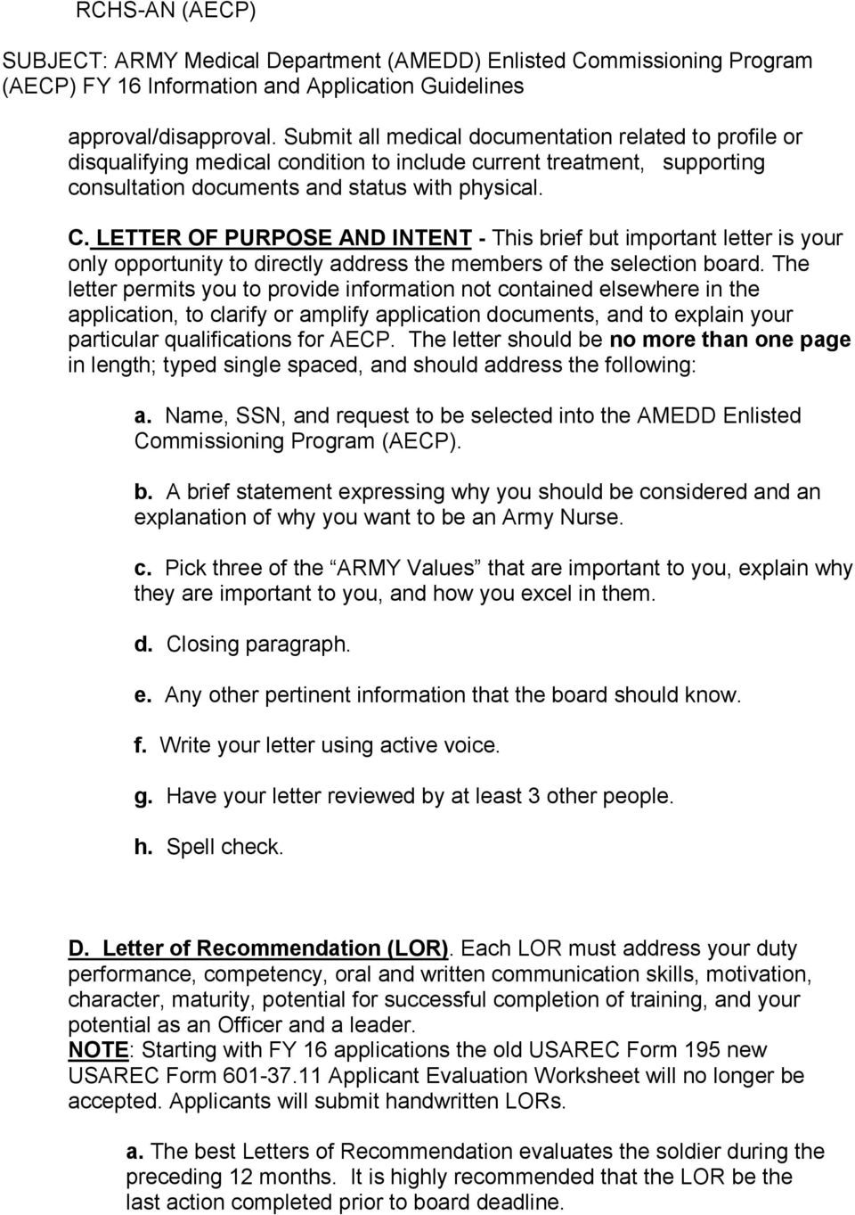 Amedd Enlisted Commissioning Program Guidelines For Army Enlisted