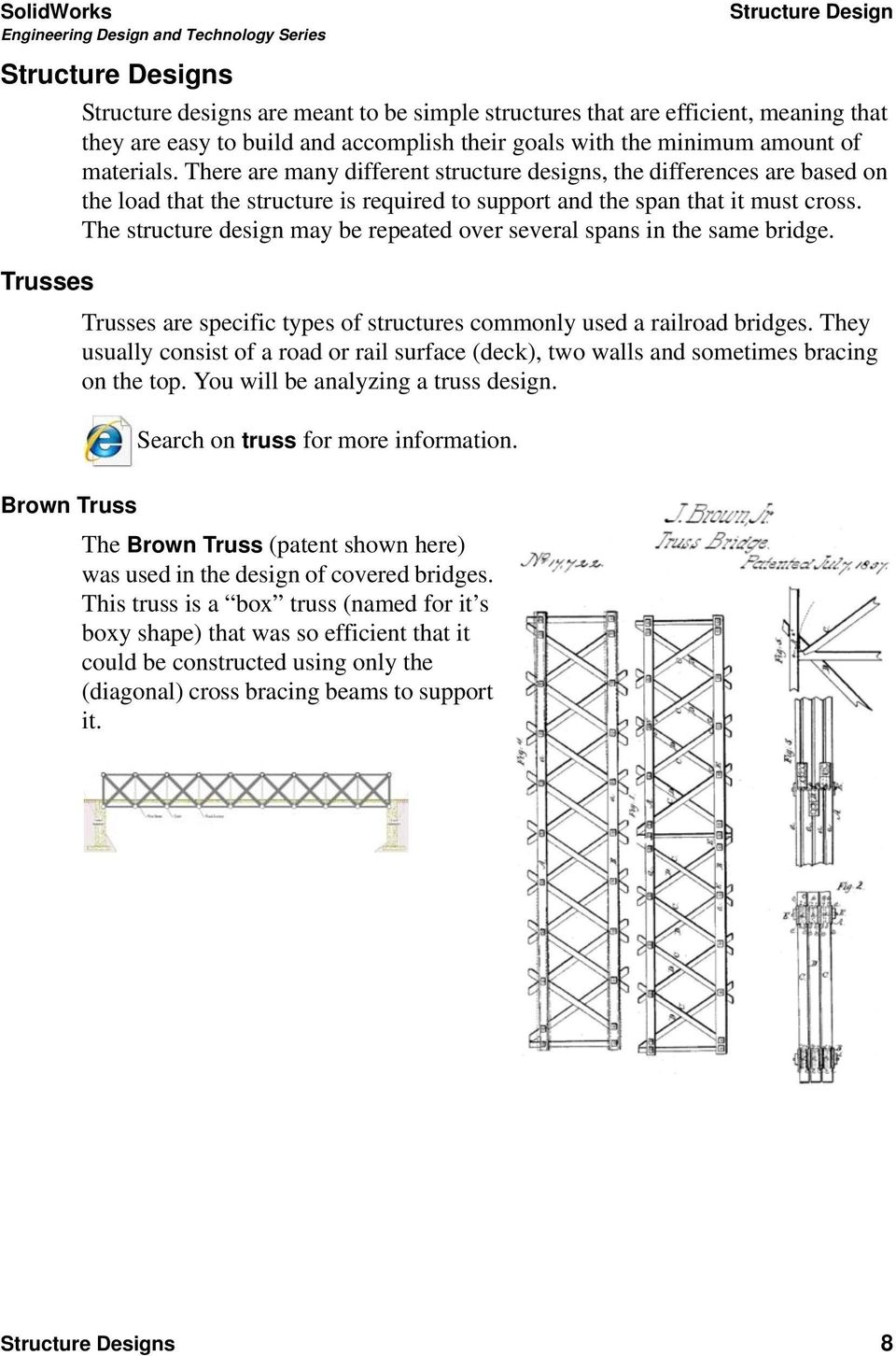 Bridge Design Project With Solidworks Software Put Picture Here Pdf Truss Diagram Through The Structure May Be Repeated Over Several Spans In Same Trusses