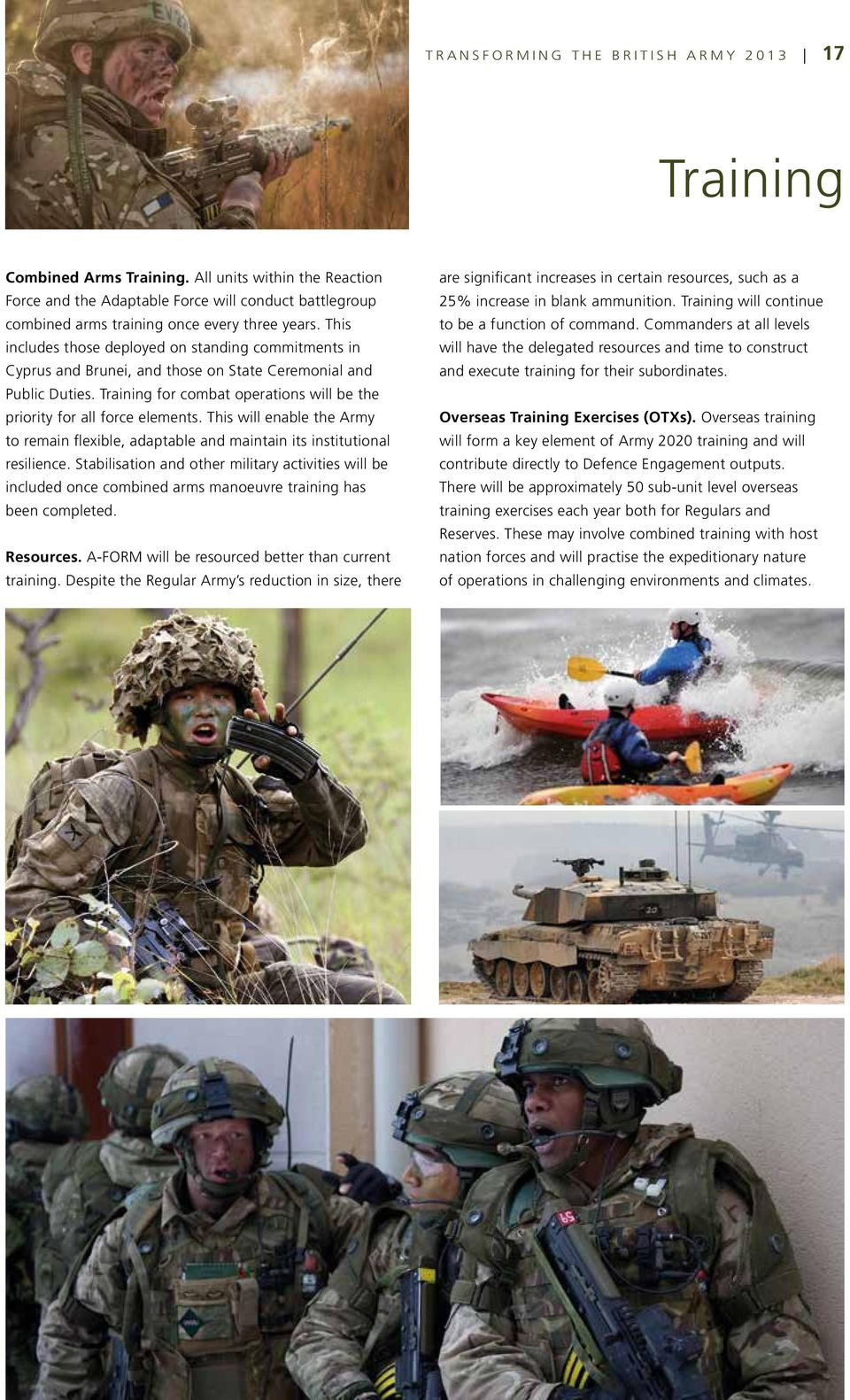 TRANSFORMING THE BRITISH ARMY An Update - July PDF