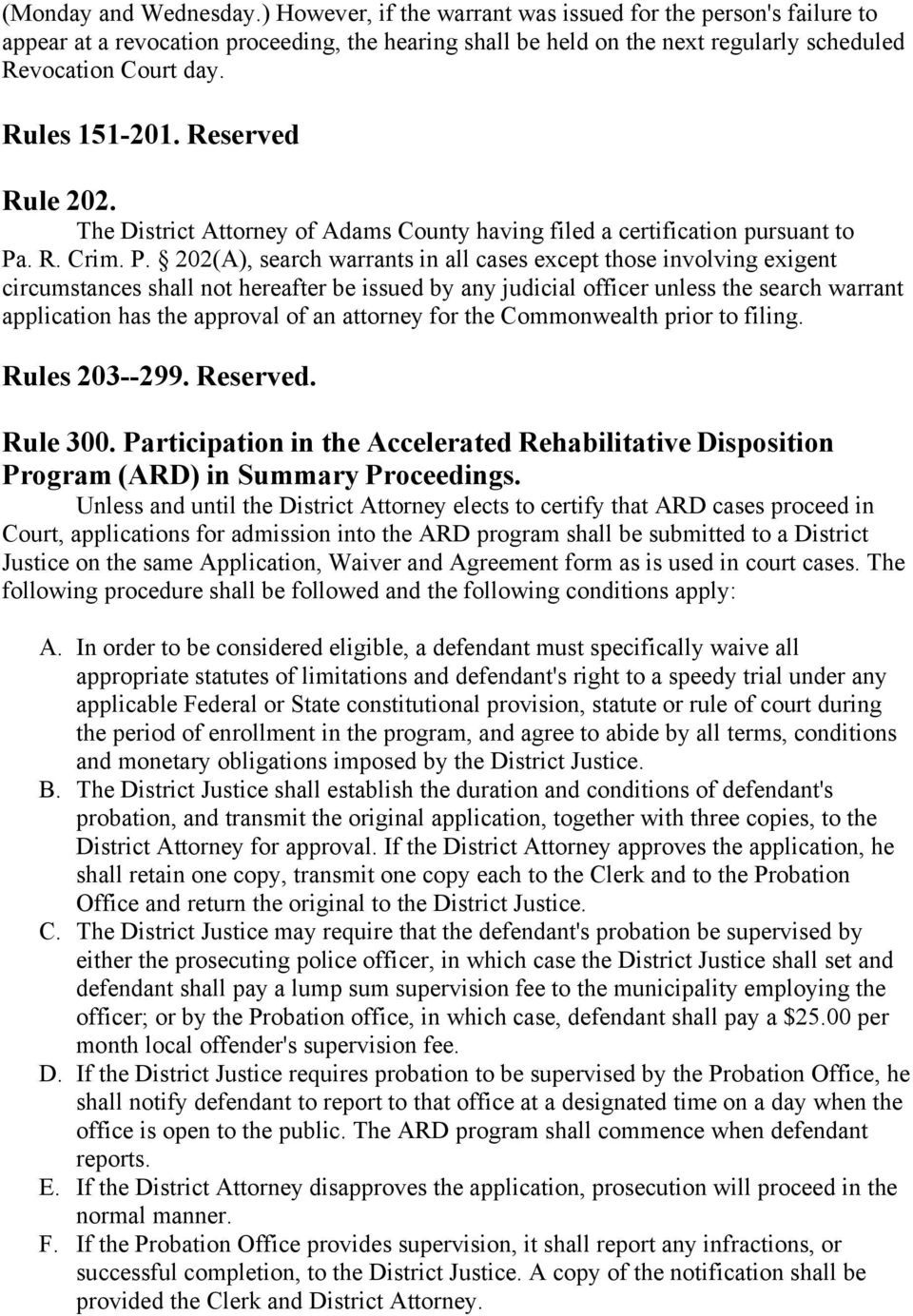 ADAMS COUNTY COURT OF COMMON PLEAS RULES OF CRIMINAL PROCEDURE - PDF