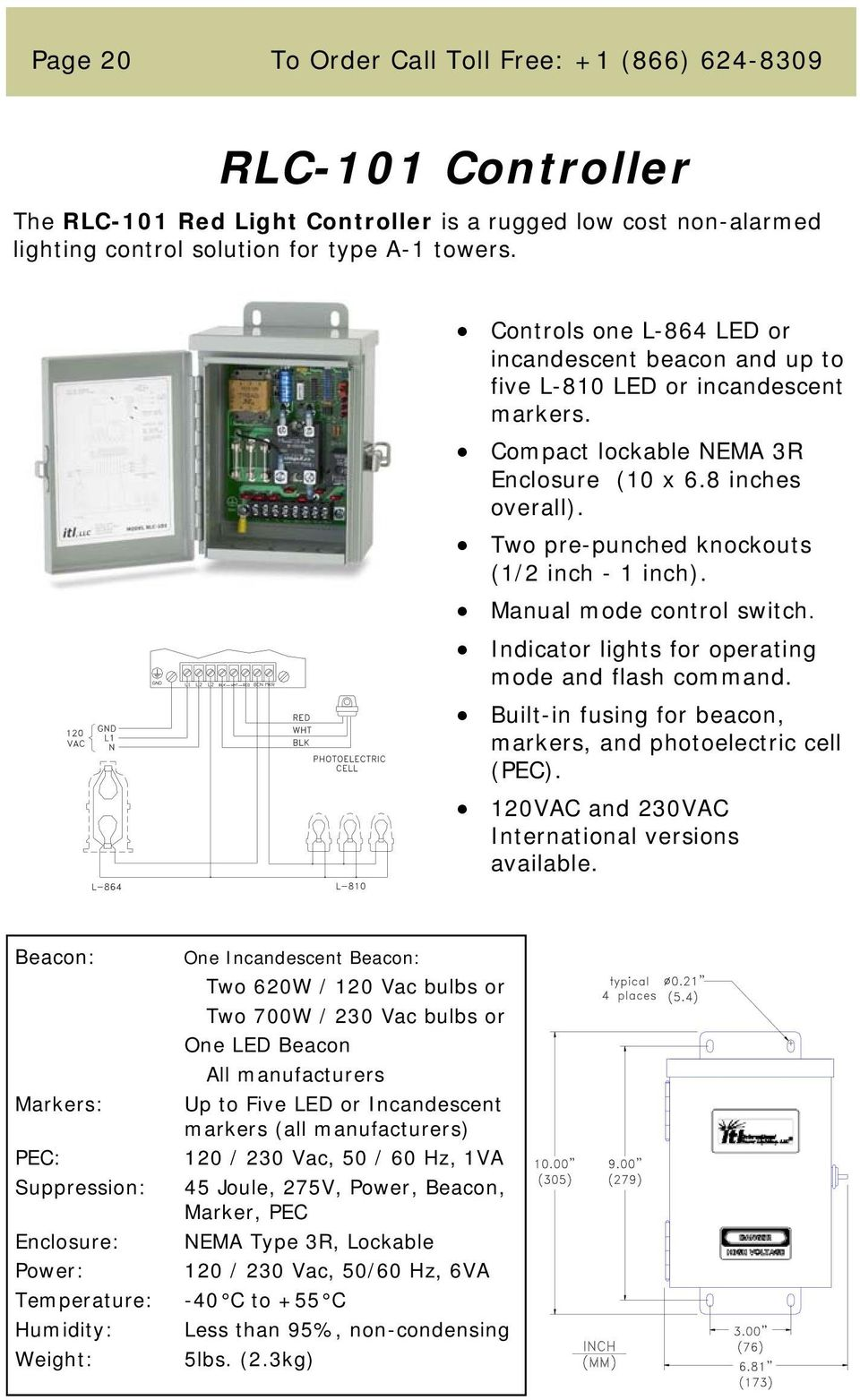 Monitoring Obstruction Lighting Parts And Service Pdf Flasher Flaser Sen 12 Volt Universal Two Pre Punched Knockouts 1 2 Inch Manual