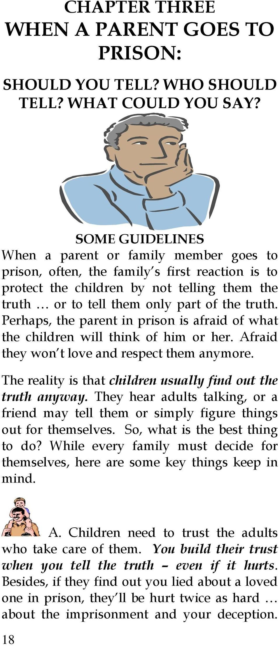 Kids With Parents In Prison Often Deal >> What About Me When A Parent Goes To Prison A Guide To Discussing