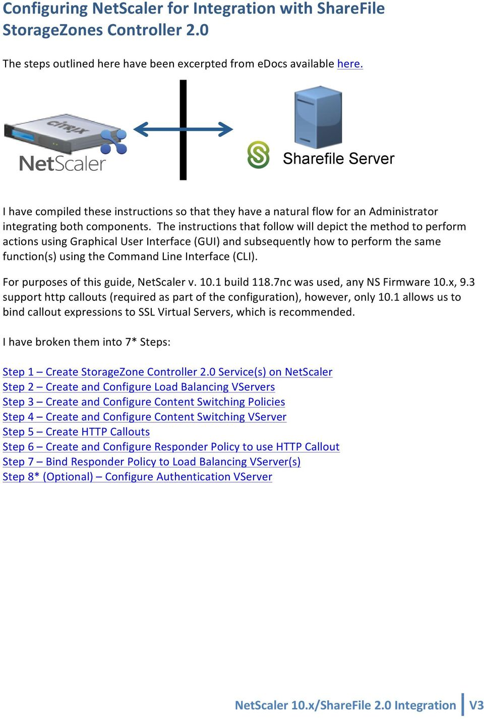 Configuring NetScaler for Integration with ShareFile