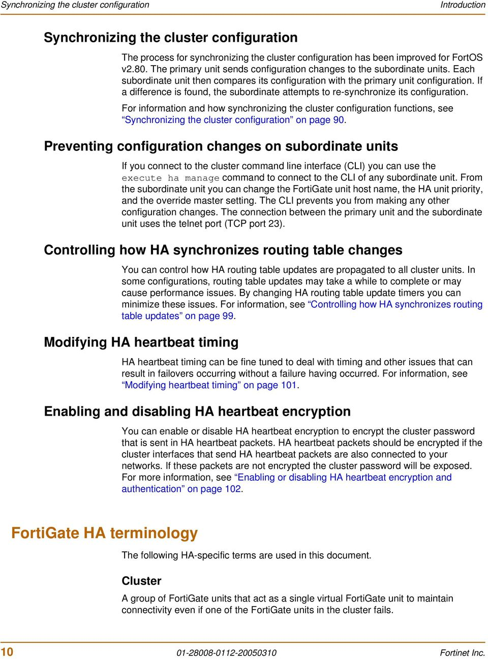 FortiGate High Availability Guide - PDF
