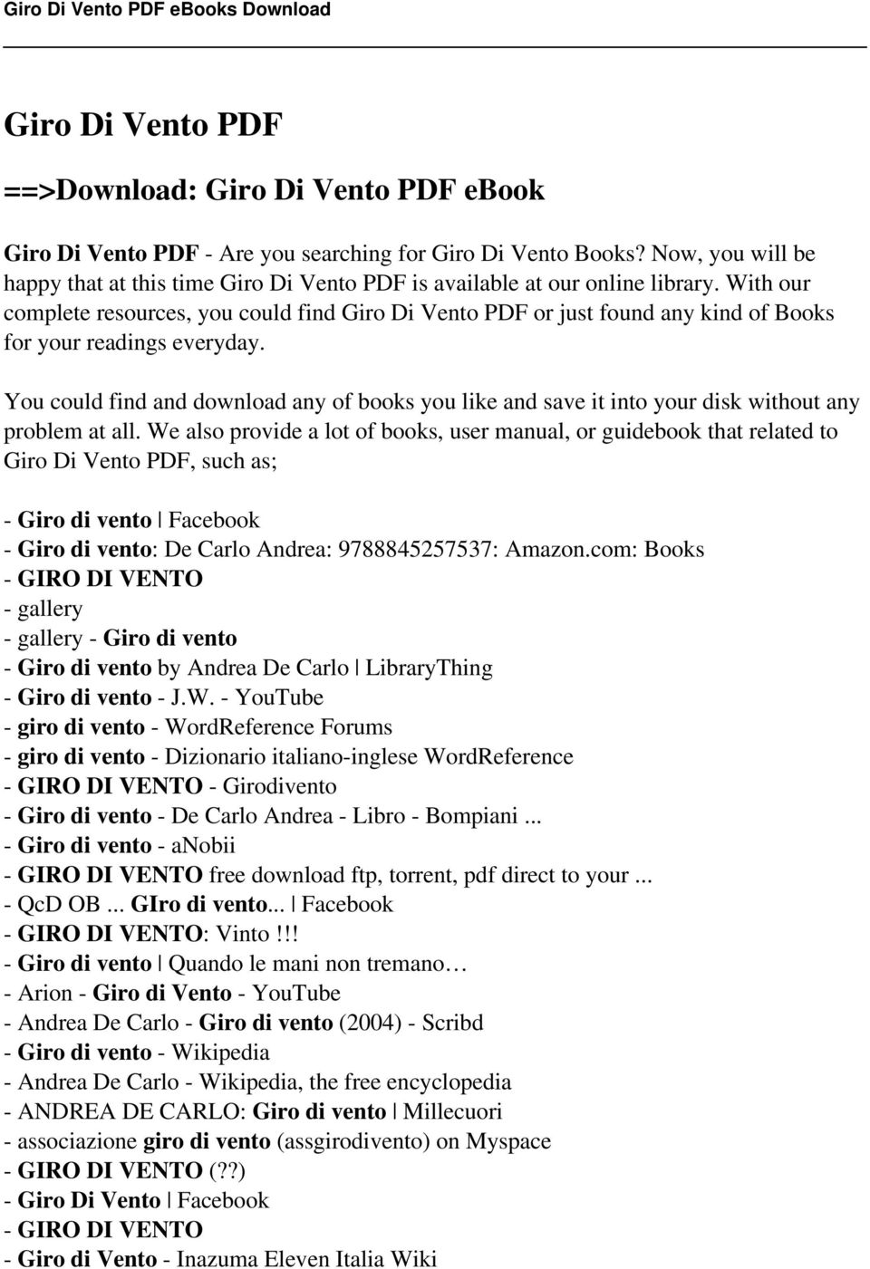 Giro di vento pdf download giro di vento pdf ebook pdf with our complete resources you could find giro di vento pdf or just found any fandeluxe Image collections