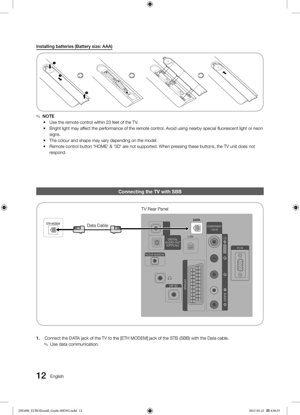 Led Tv Installation Manual Imagine The Possibilities Pdf Visio Datajack Wiring Diagram When Pressing These Buttons Unit Does Not Respond