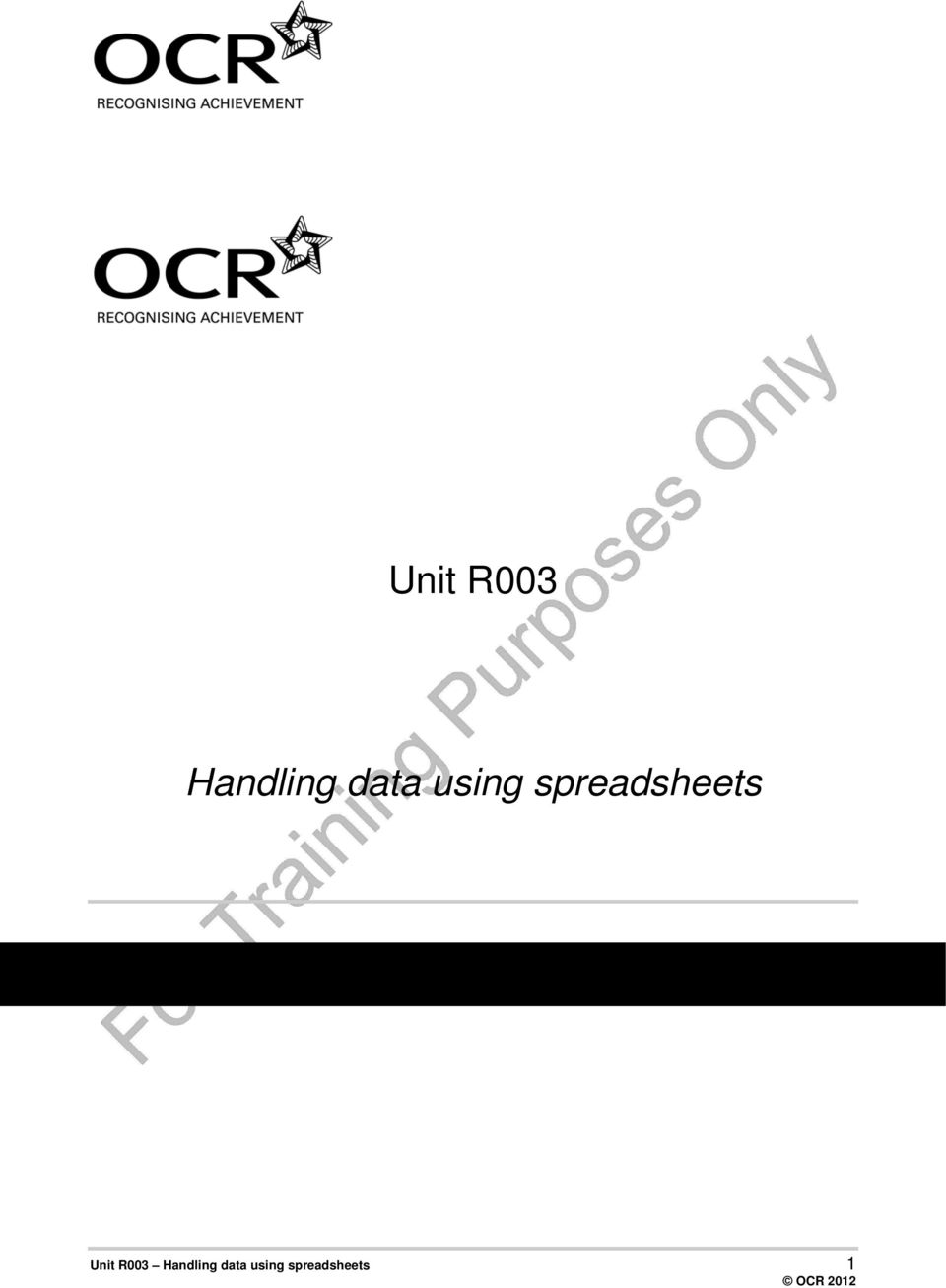 Unit r003 handling data using spreadsheets pdf 2 2 24 unit r003 handling data using spreadsheets aims this unit builds on units r001 and r002 and learners will be able to apply the skills fandeluxe Images