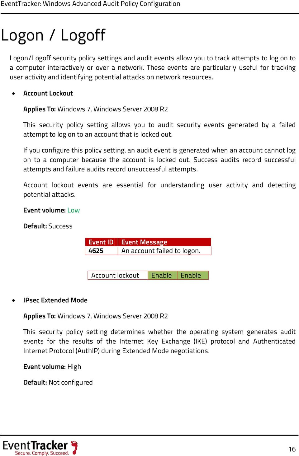 Windows Advanced Audit Policy Configuration - PDF