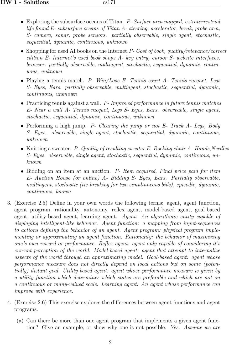 Cs171 Hw 1 Solutions Pdf Tennis Racket Diagram Glossary Of Terms Fix Your P Cost Book Quality Relevance Correct Edition E Internet S