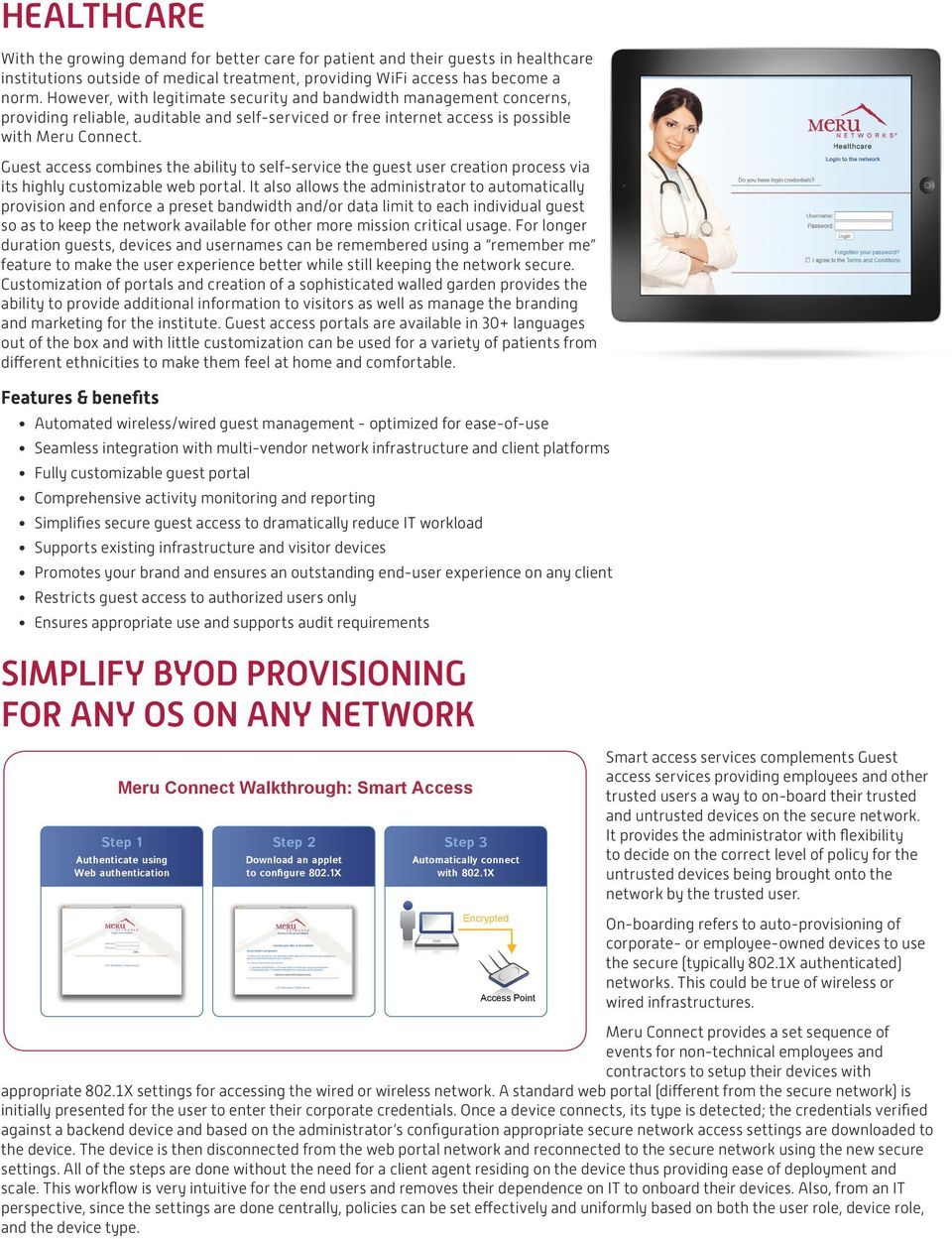 Meru Connect Easy To Use Flexible Guest Access Simplified Byod On Cloudpath Wireless Network Diagram Combines The Ability Self Service User Creation Process Via Its