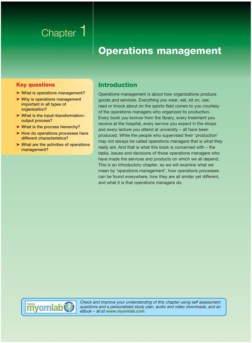 importance of operation management in an organization