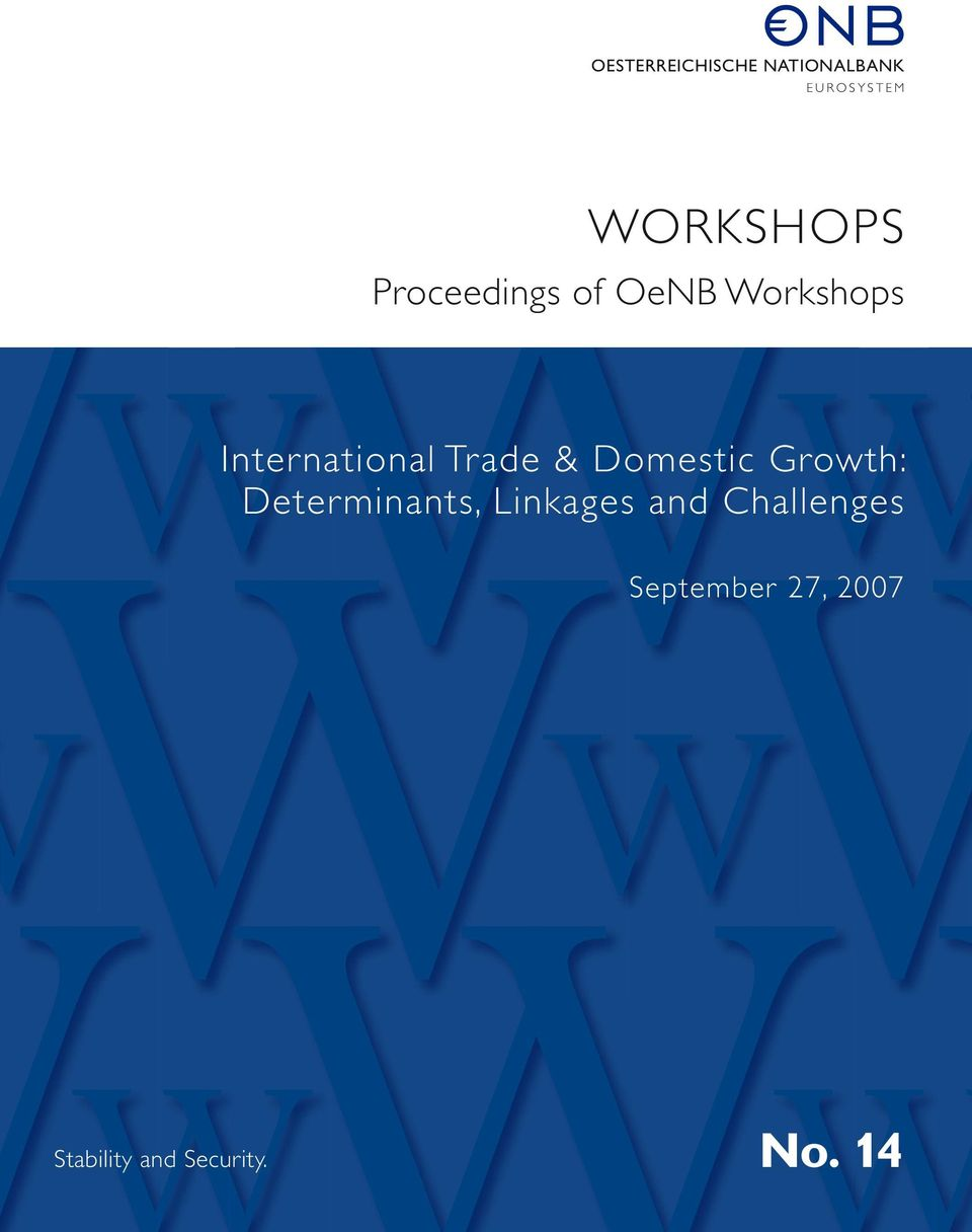 Trade & Domestic Growth: Determinants, Linkages and