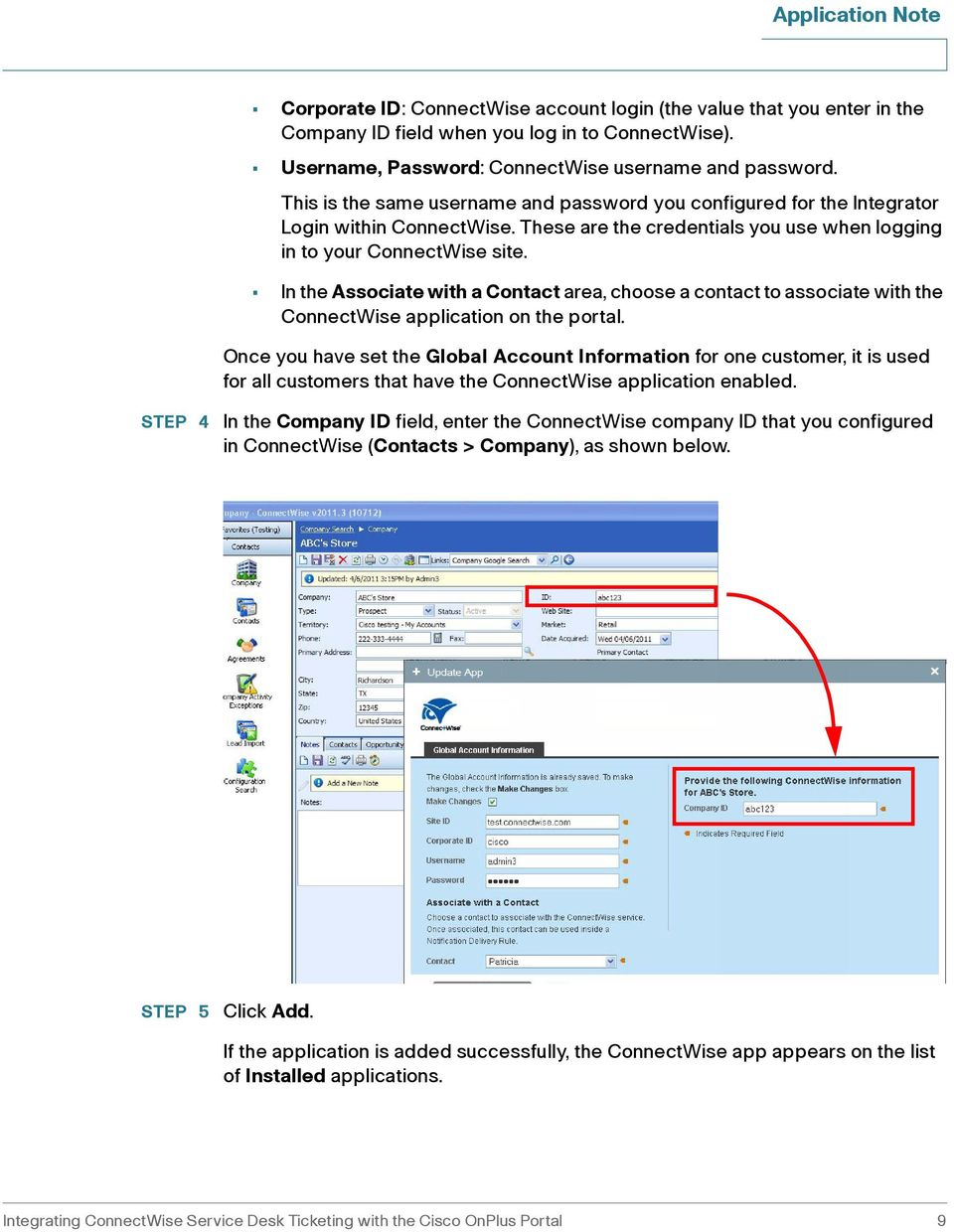Integrating ConnectWise Service Desk Ticketing with the