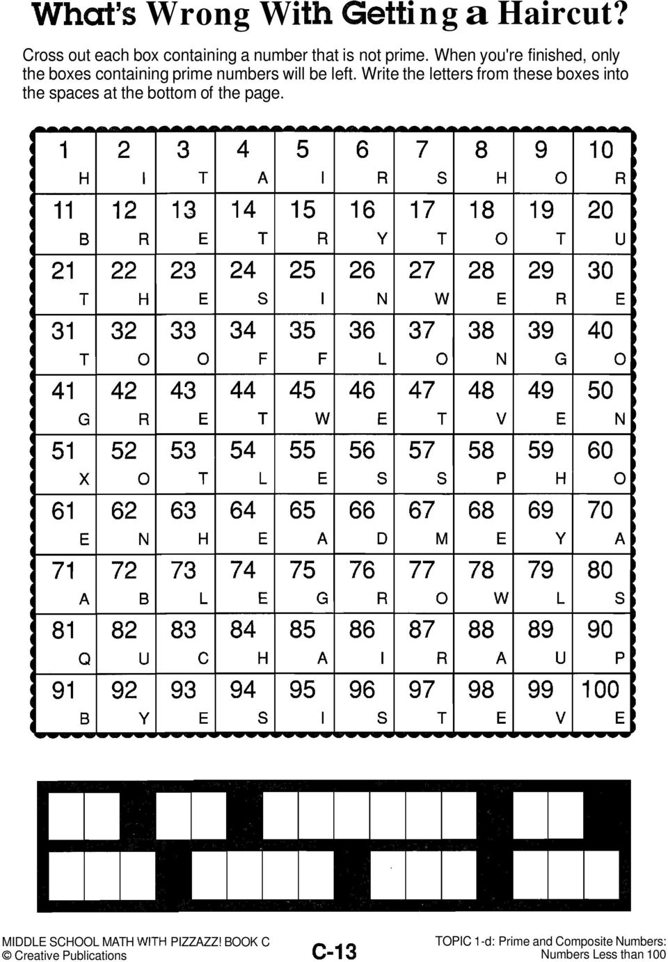 middle school math with pizzazz book d answer key d-35