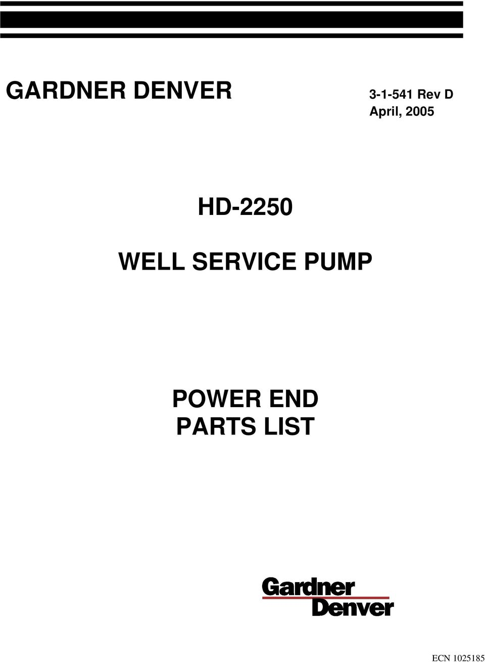 HD-2250 WELL SERVICE