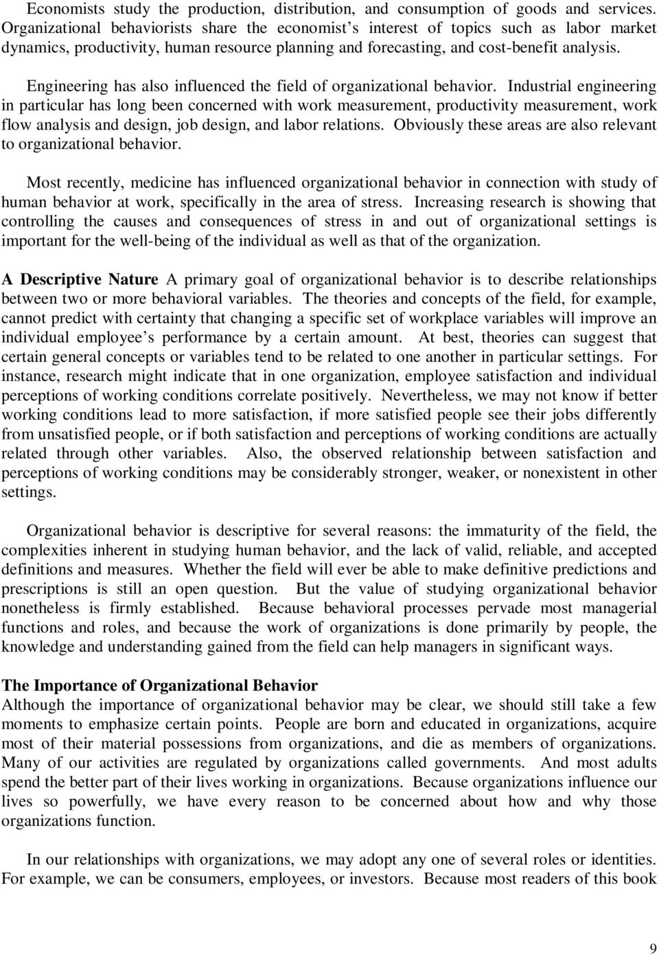 human behavior in organization research topics