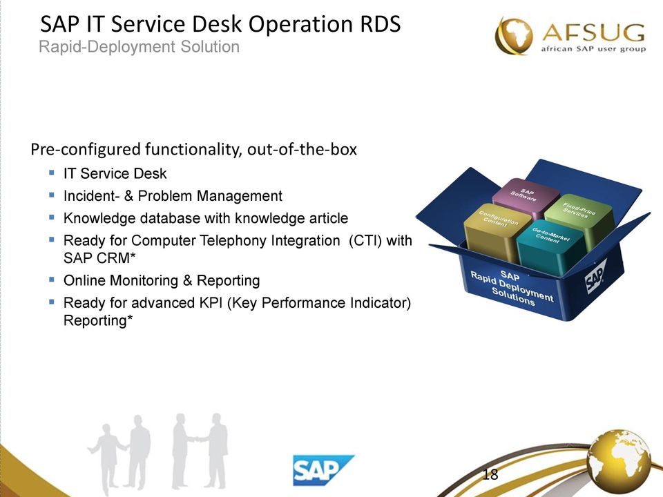 database with knowledge article Ready for Computer Telephony Integration (CTI) with SAP