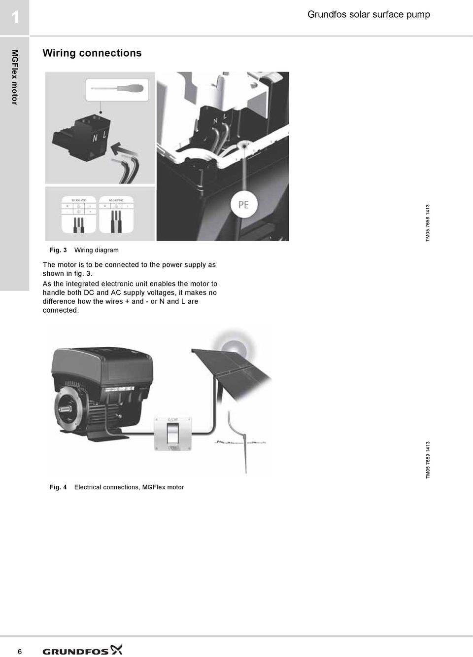 Grundfos Solar Surface Pump Pdf Wiring Diagram As The Integrated Electronic Unit Enables Motor To Handle Both Dc And Ac Supply Voltages