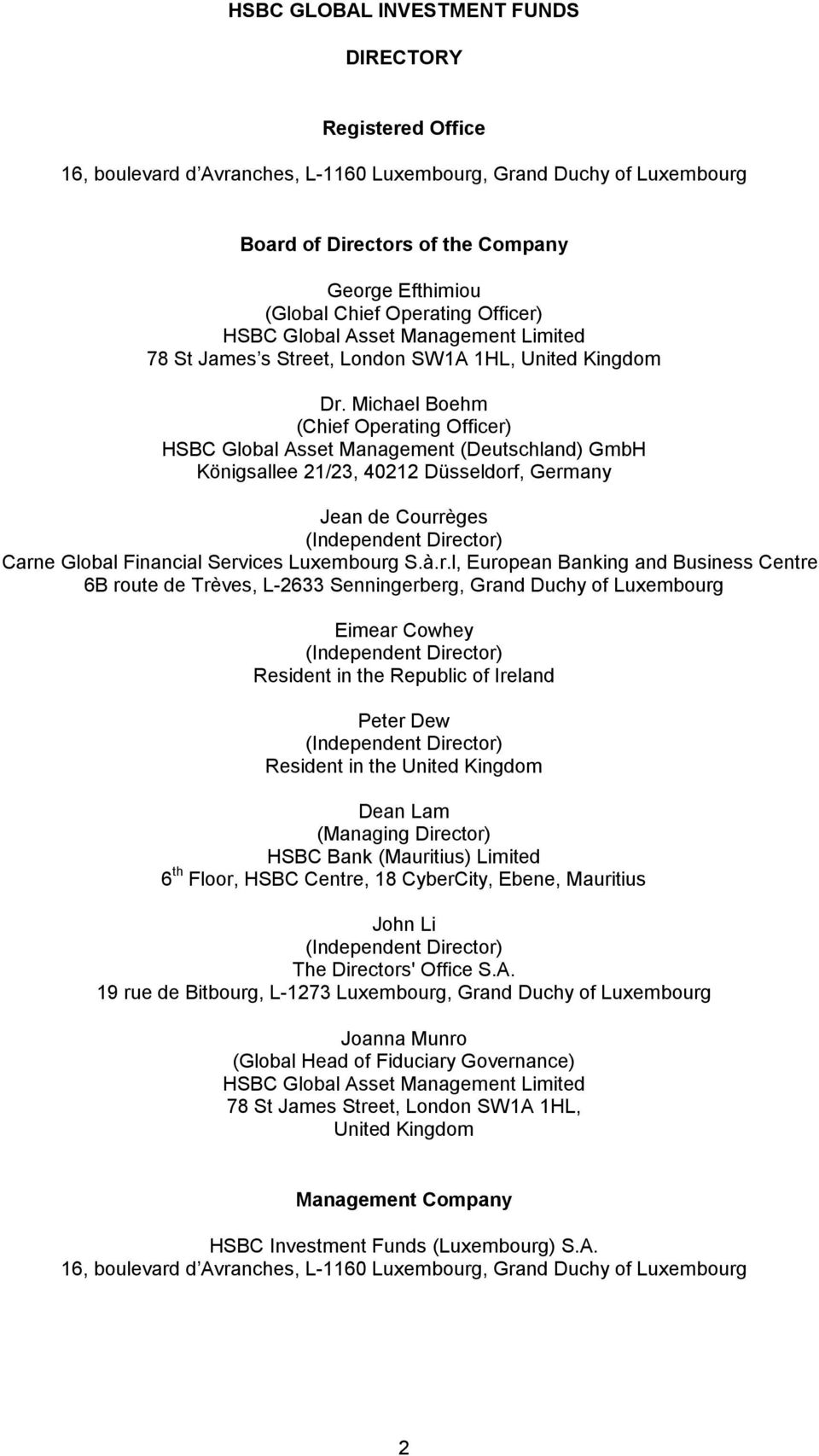 HSBC Global Investment Funds - PDF