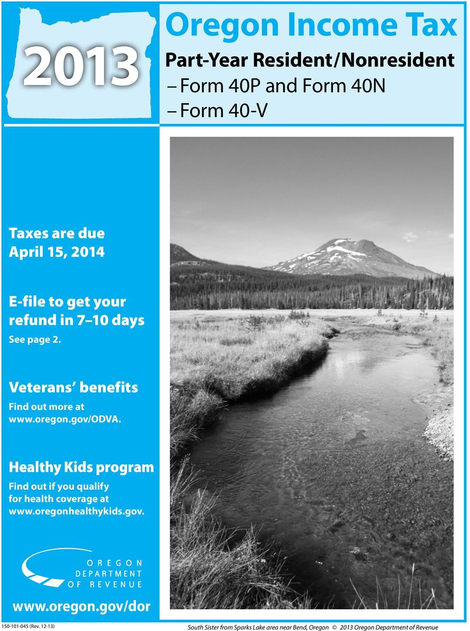 Oregon Income Tax Part Year Resident Nonresident Form 40p And