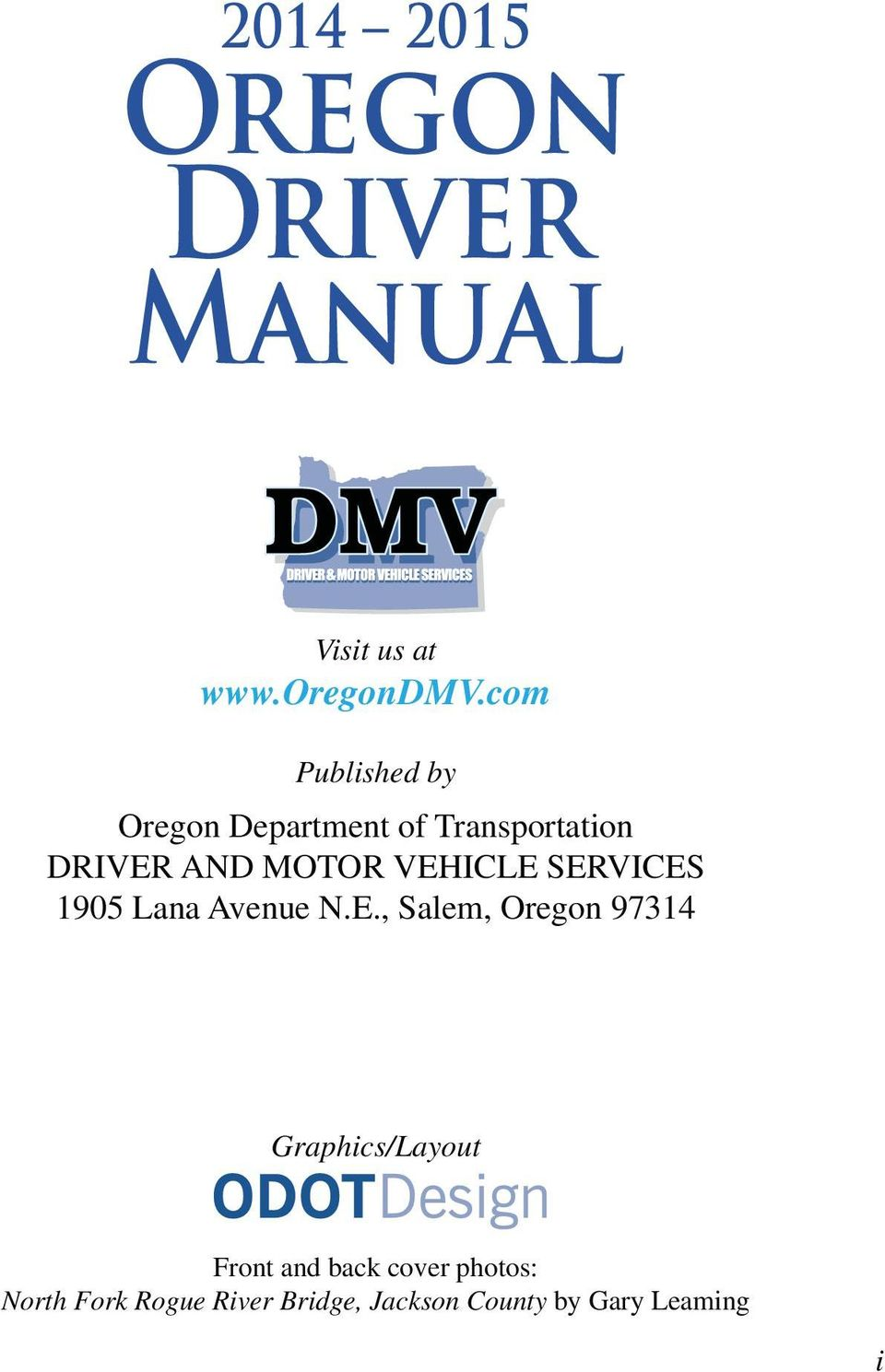 Oregon Driver Manual Driver And Motor Vehicle Services Pdf