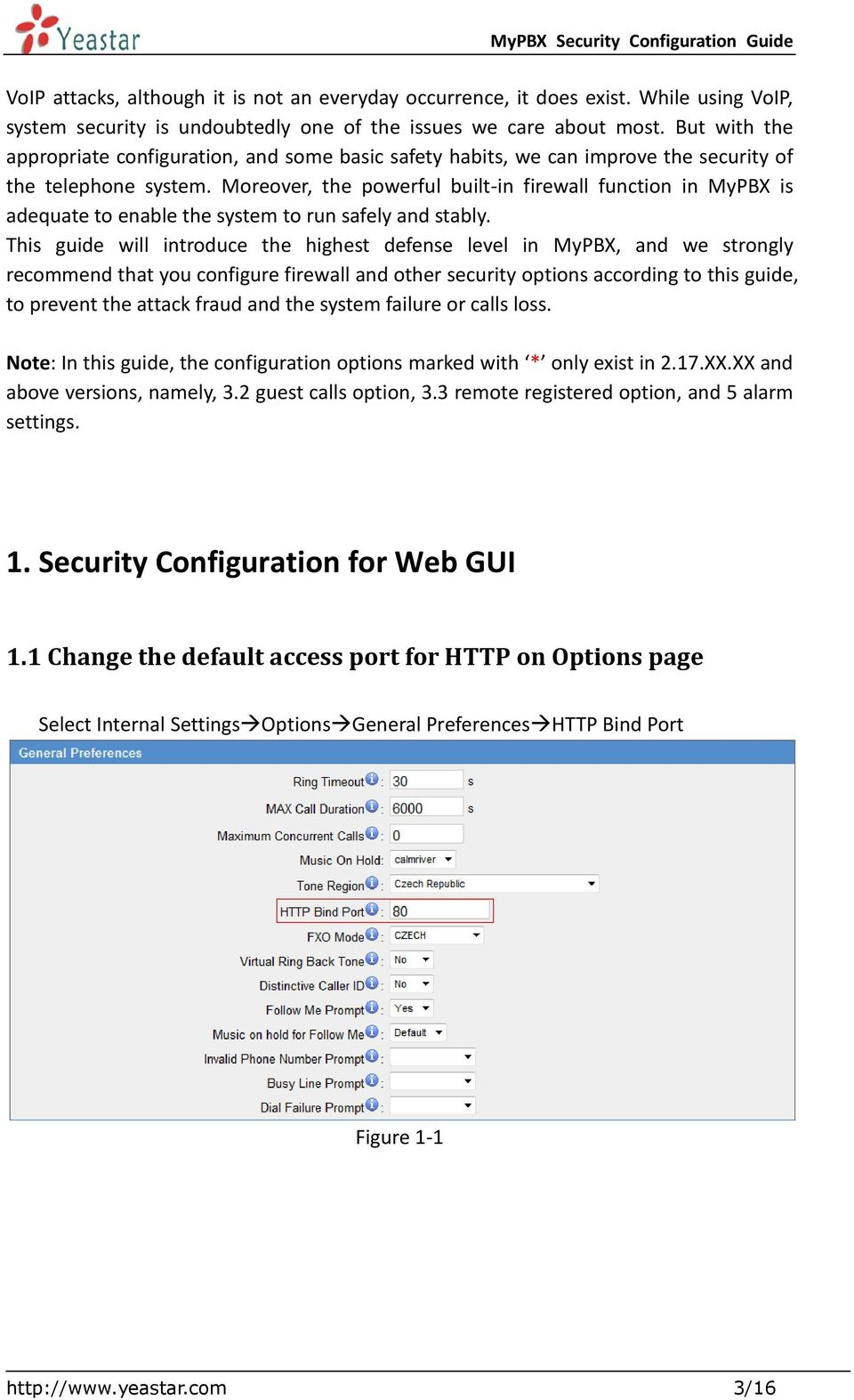 MyPBX Security Configuration Guide - PDF