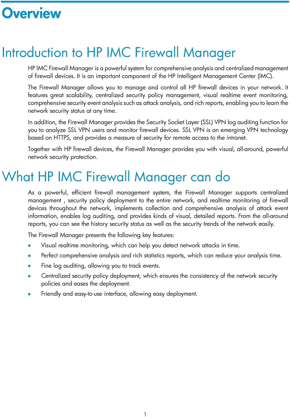 HP IMC Firewall Manager - PDF