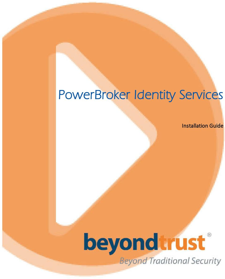 PowerBroker Identity Services  Installation Guide - PDF