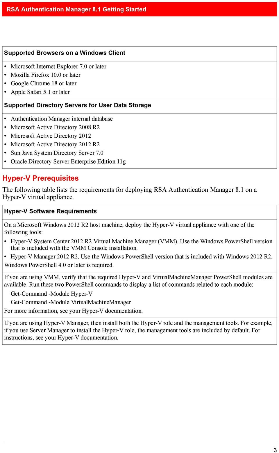 RSA Authentication Manager 8 1 Virtual Appliance Getting Started - PDF