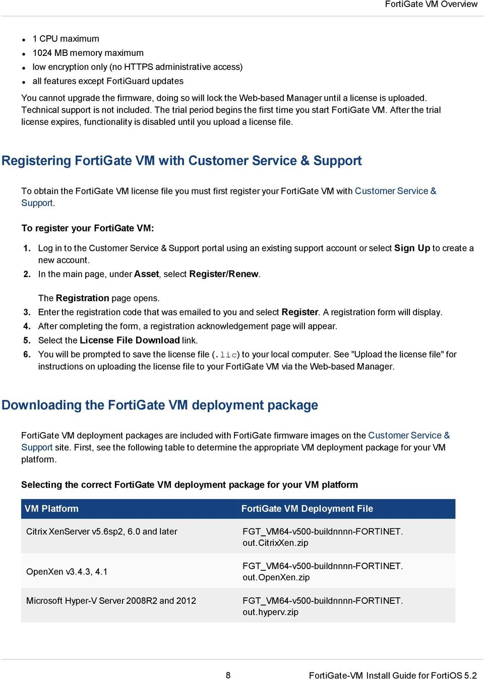 FortiOS Handbook - VM Installation VERSION PDF