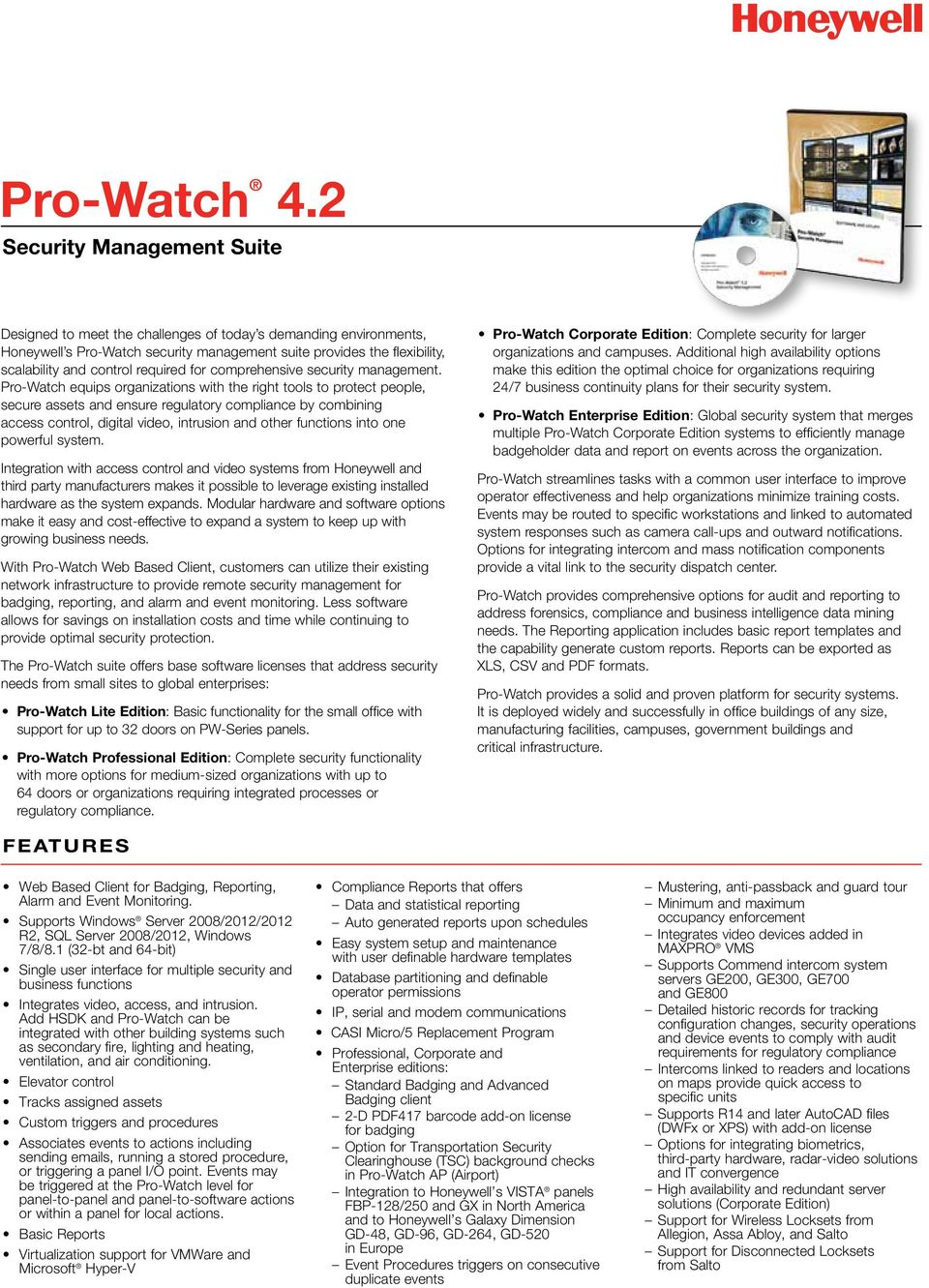 Pro watch 42 security management suite features pdf equips organizations with the right tools to protect people secure assets and ensure regulatory compliance fandeluxe Gallery